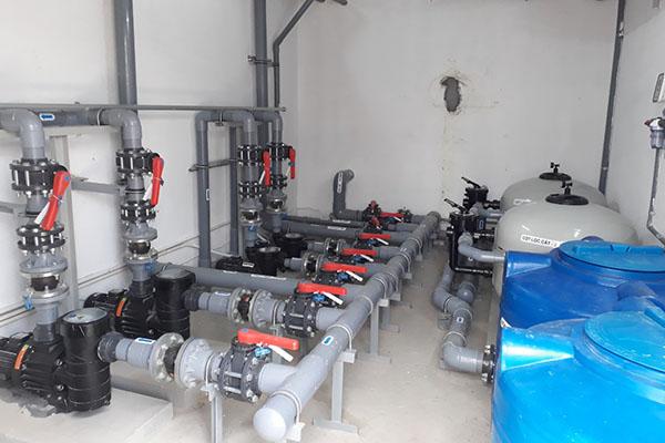 Hệ thống xử lý nước hồ bơi đạt chuẩn làm sạch hồ bơi