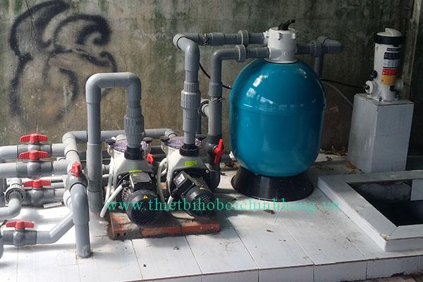 Cung cấp và lắp đặt thiết bị hồ bơi gia đình anh Trí tại Hóc Môn - Tp. HCM